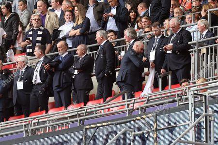 Spurs legends Alan Mullery, Mark Flaco, Ricardo Villa, Osvaldo Ardies. Paul Miller, Pat Jennings, David Howells, Graham Roberts and Cliff Jones during Tottenham Hotspur vs Leicester City, Premier League Football at Wembley Stadium on 13th May 2018