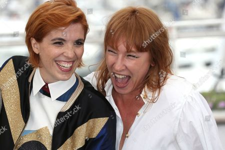 Eva Husson, Emmanuelle Bercot. Director Eva Husson, left, and actress Emmanuelle Bercot pose for photographers during a photo call for the film 'Girls of The Sun' at the 71st international film festival, Cannes, southern France