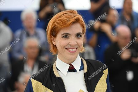 Director Eva Husson pose for photographers during a photo call for the film 'Girls of The Sun' at the 71st international film festival, Cannes, southern France