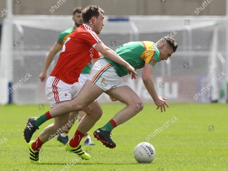 Carlow vs Louth. Carlow's Jordan Morrissey and William Woods of Louth