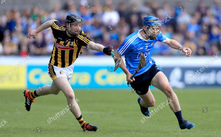 Dublin vs Kilkenny. Dublin's Rian McBride with Enda Morrissey of Kilkenny
