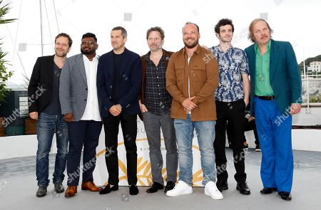 Actors Philippe Katerine, Felix Moati, Alban Ivanov, Mathieu Amalric, Guillaume Canet, Thamilchelvan Balasingham and Jonathan Zaccai  poses during the photocall for 'Sink Or Swim (Le Grand Bain)' at the 71st annual Cannes Film Festival, in Cannes, France, 13 May 2018. The movie is presented out of competition at the festival which runs from 08 to 19 May.
