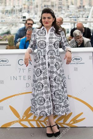 Director Gaya Jiji poses for photographers during a photo call for the film 'My Favorite Fabric' at the 71st international film festival, Cannes, southern France