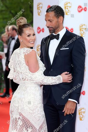 Rio Ferdinand and Kate Wright