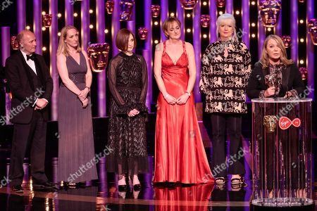 Stock Photo of Kirsty Young, Claire Popplewell, Rosheen Archer, Julia Knowles, Live Event Award, 'World War One Remembered: Passchendaele'