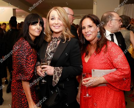 Claudia Winkleman. Kirsty Young and guest