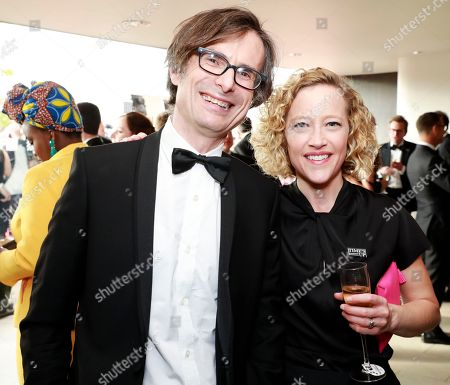 Robert Peston and Cathy Newman
