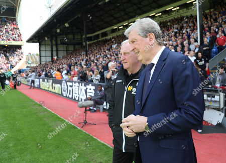 Crystal Palace manager Roy Hodgson with his assistant Ray Lewington