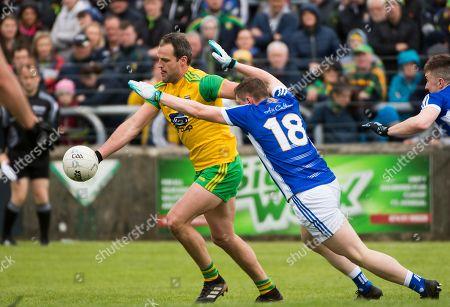 Donegal vs Cavan. Donegal's Michael Murphy and Fergal Reilly of Cavan