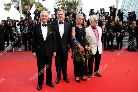 (L-R)  Keir Dullea, director Christopher Nolan, Katharina Kubrick and Jan Harlan arrive for the screening of 'Sink Or Swim (Le Grand Bain)' during the 71st annual Cannes Film Festival, in Cannes, France, 13 May 2018. The movie is presented out of competition at the festival which runs from 08 to 19 May.