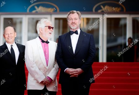 Jan Harlan and director Christopher Nolan arrive for the screening of 'Sink Or Swim (Le Grand Bain)' during the 71st annual Cannes Film Festival, in Cannes, France, 13 May 2018. The movie is presented out of competition at the festival which runs from 08 to 19 May.
