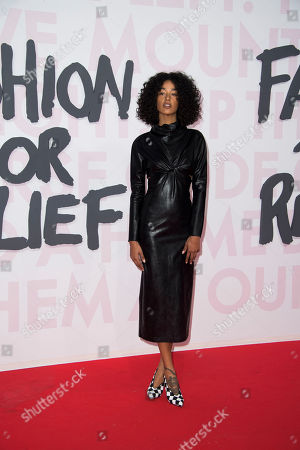 Damaris Goddrie poses for photographers upon arrival at the Fashion For Relief 2018 event during the 71st international film festival, Cannes, southern France