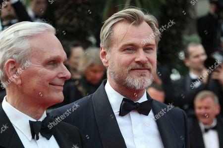 Keir Dullea, Christopher Nolan. Actor Keir Dullea, left, and director Christopher Nolan