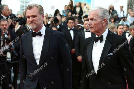 Keir Dullea, Christopher Nolan. Director Christopher Nolan, left, and actor Keir Dullea