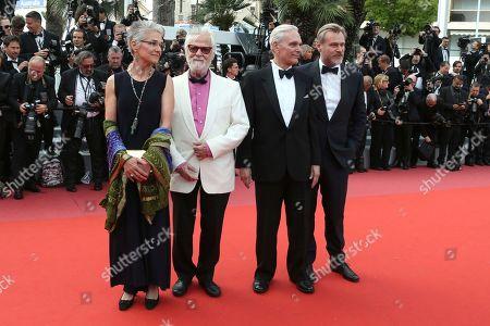 Katharina Kubrick, Jan Harlan, Keir Dullea, Christopher Nolan. Katharina Kubrick, from left, Jan Harlan, actor Keir Dullea and director Christopher Nolan