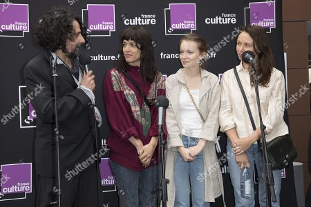 Bertrand Mandico (French director), winner of the Prix France Culture Cinema for students for his film 'Les Garcons sauvages', Vimala Pons (Actress), Diane Rouxel (Actress)