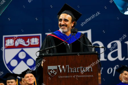 "Chobani Founder and CEO Hamdi Ulukaya addresses graduates, families and faculty at the 2018 Wharton MBA Graduation Ceremony, in Philadelphia. In his remarks, Ulukaya said ""The Chobani journey has taught me something special: what matters most, in business and in life, is the difference you make for other people, for your community, for your country, and for humanity"