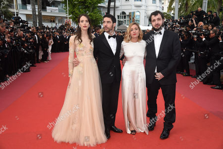 Karim Leklou, director Marie Monge, Tahar Rahim and Stacy Martin
