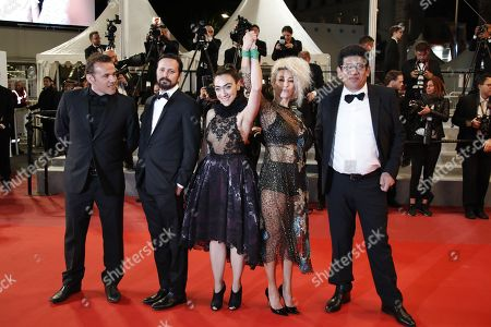 (L-R) French actor Stephane Rideau,  director Alejandro Fadel, Argentinian actress Tania Casciani, Argentinian actress Romina Iniesta  and Argentinian actor Victor Lopez arrive for the screening of 'Shoplifters (Manbiki Kazoku)' during the 71st annual Cannes Film Festival, in Cannes, France, 13 May 2018. The movie is presented in the Official Competition of the festival which runs from 08 to 19 May.