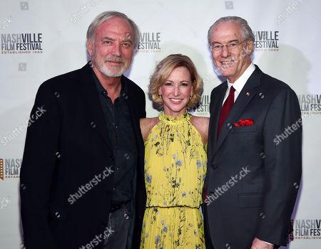 Director James Keach, Executive Producer Nancy Lynn and George Vradenburg Chairman Us Against Alzheimer's