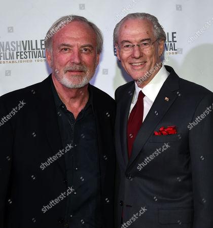 Director James Keach and George Vradenburg Chairman Us Against Alzheimer's