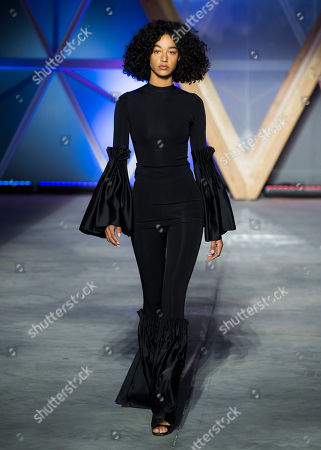 Stock Photo of Damaris Goddrie walks the runway at the Fashion For Relief 2018 event during the 71st international film festival, Cannes, southern France