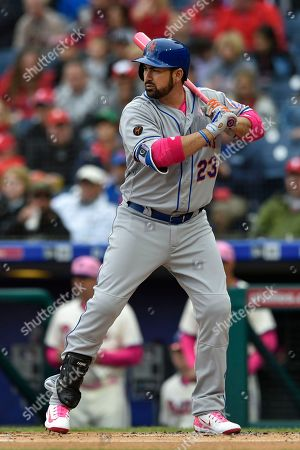 New York Mets' Adrian Gonzalez in action during a baseball game against the Philadelphia Phillies, in Philadelphia