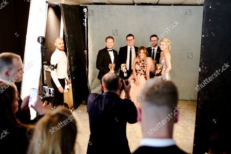 Editorial picture of British Academy Television Awards, Backstage, Royal Festival Hall, London, UK - 13 May 2018