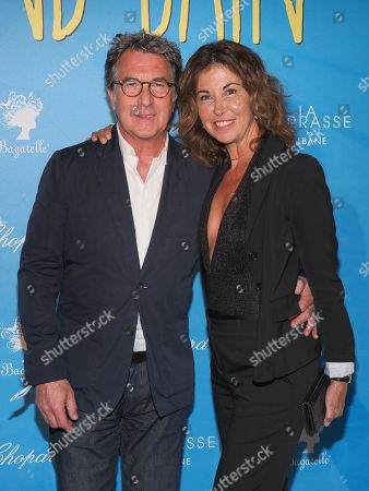 Francois Cluzet and his wife Narjiss Slaoui-Falcoz