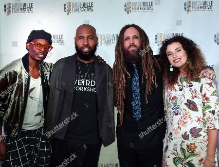 Stock Photo of Claude Kelly with Chuck Harmony of Weirds join Brian Welch of KoRn and Daughter Jennea Welch