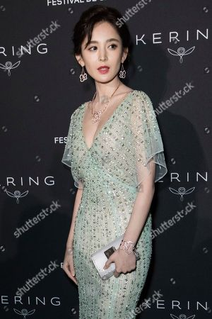 Coulee Nazha poses for photographers upon arrival at the Kering Women In Motion awards at the 71st international film festival, Cannes, southern France