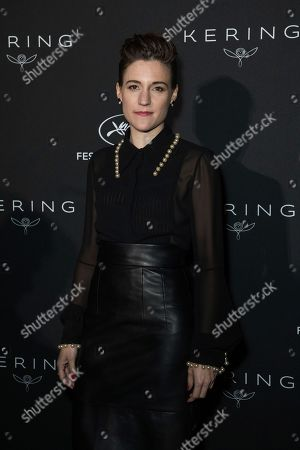Carla Simon poses for photographers upon arrival at the Kering Women In Motion awards at the 71st international film festival, Cannes, southern France