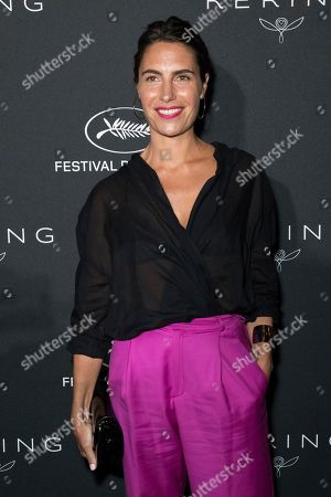Alessandra Sublet poses for photographers upon arrival at the Kering Women In Motion awards at the 71st international film festival, Cannes, southern France