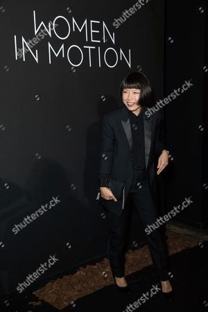 Angelica Cheung poses for photographers upon arrival at the Kering Women In Motion awards at the 71st international film festival, Cannes, southern France