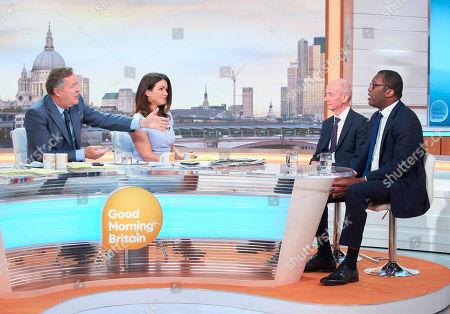 Piers Morgan, Susanna Reid with Pat McFadden and Kwasi Kwarteng