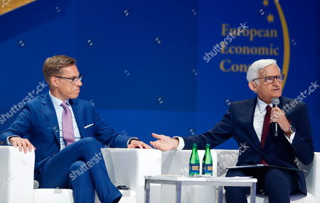 Jerzy Buzek and Bank Alexander Stubb