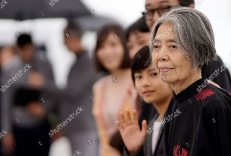 Japanese actress Kirin Kiki poses during the photocall for 'Shoplifters (Manbiki Kazoku)' at the 71st annual Cannes Film Festival, in Cannes, France, 14 May 2018. The movie is presented in the Official Competition of the festival which runs from 08 to 19 May.