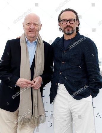 French director Jean-Paul Rappeneau and French actor Vincent Perez (R) pose during the photocall for 'Cyrano de Bergerac' at the 71st annual Cannes Film Festival, in Cannes, France, 14 May 2018. The movie is presented in the section Special Screenings of the festival which runs from 08 to 19 May.