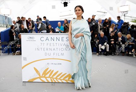 Indian actress Rasika Dugal poses during the photocall for 'Manto' at the 71st annual Cannes Film Festival, in Cannes, France, 14 May 2018. The movie is presented in the section Un Certain Regard of the festival which runs from 08 to 19 May.