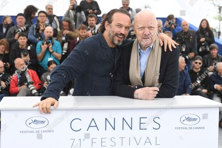 Vincent Perez, Jean-Paul Rappeneau. Actor Vincent Perez, left, and director Jean-Paul Rappeneau pose for photographers during a photo call for the film 'Cyrano de Bergerac' at the 71st international film festival, Cannes, southern France