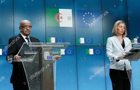 Federica Mogherini and Abdelkader Messahel