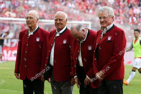 l-r: Franz Beckenbauer, Franz Bulle Roth, Sepp Maier, FC Bayern Muenchen vs. VfB Stuttgart, Football, 1.Bundesliga, 12.05.2018