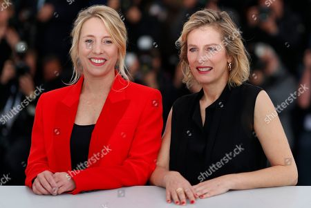 French director Andrea Bescond (L) and French actress Karin Viard pose during the photocall for 'Little Tickles (Les Chatouilles)' at the 71st annual Cannes Film Festival, in Cannes, France, 14 May 2018. The movie is presented in the section Un Certain Regard of the festival which runs from 08 to 19 May.