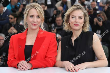 Andrea Bescond, Karin Viard. Director Andrea Bescond, left, and actress Karin Viard pose for photographers during a photo call for the film 'Little Tickles' at the 71st international film festival, Cannes, southern France