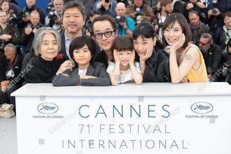 Kirin Kiki, Hirokazu Koreeda, Jyo Kairi, Lily Franky, Miyu Sasaki, Sakura Ando and Mayu Matsuoka