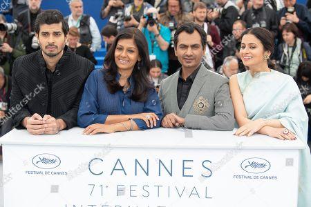 (L-R) Actor Tahar Rahim, writer Nandita Das, actors Nawazuddin Siddiqui and Rasika Dugal