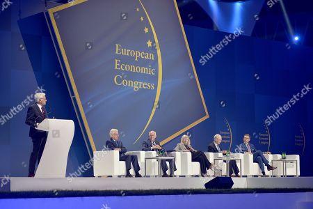 Stock Picture of Jerzy Buzek, Jacek Czaputowicz, George A. Papandreu, Iveta Radicova, Herman Van Rompuy end Alexander Stubb