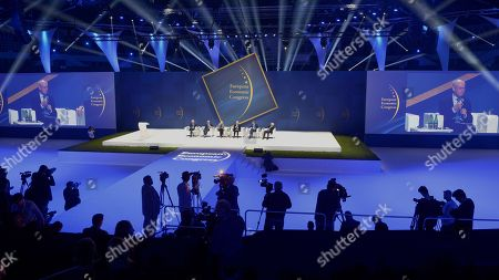 Stock Photo of Jerzy Buzek, Jacek Czaputowicz, George A. Papandreu, Iveta Radicova, Herman Van Rompuy end Alexander Stubb