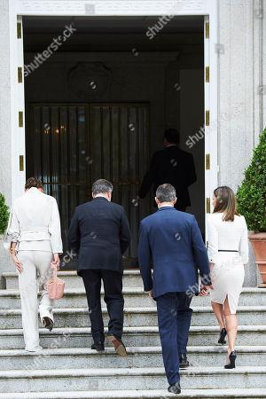 Editorial image of Colombian President Juan Manuel Santos visit to Spain - 14 May 2018