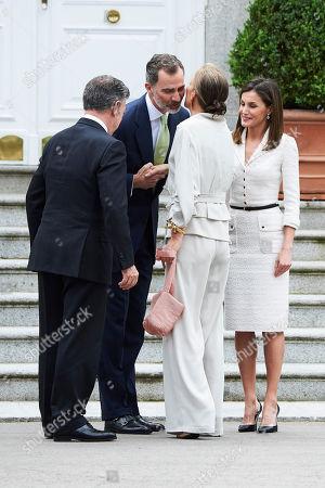 Stock Image of King Felipe VI of Spain, Queen Letizia, Juan Manuel Santos Calderon, President of Colombia, Maria Clemencia Rodriguez Munera